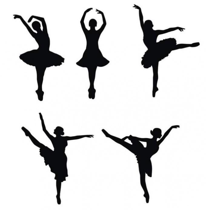 Шаблоны  танцующих балеринок