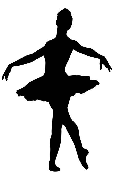 Шаблон фигурки балерины