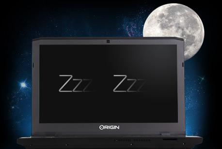 ноутбук в спящем режиме