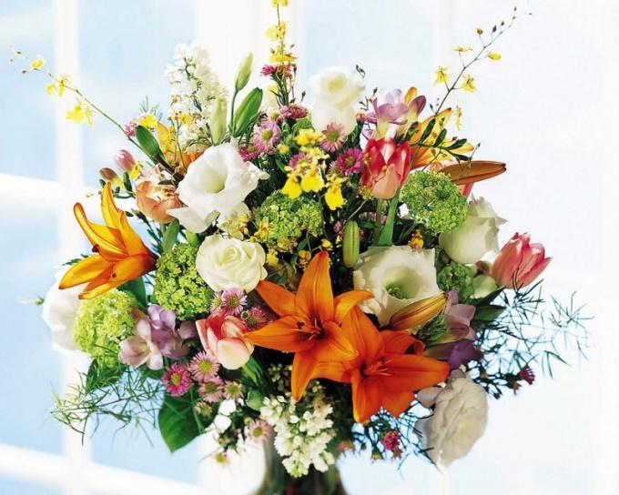 Какие цветы сочетаются между собой