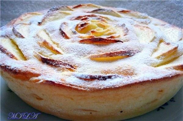 Творожная запеканка с манкой и яблоками в духовке рецепт пошагово