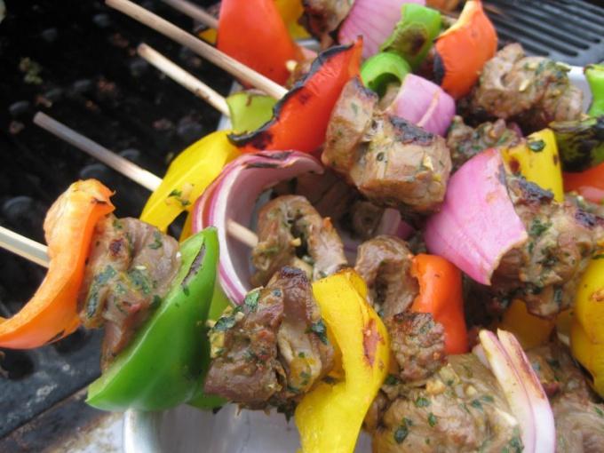Рецепт шашлыка из говядины в цитрусовом маринаде