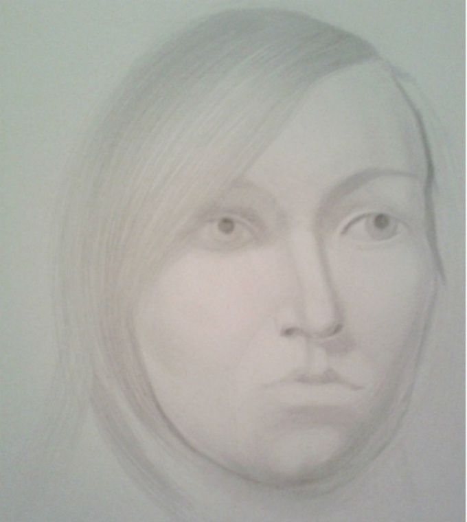 Как нарисовать портрет женщины простым карандашом
