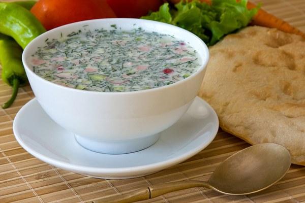 How to make okroshka with kefir