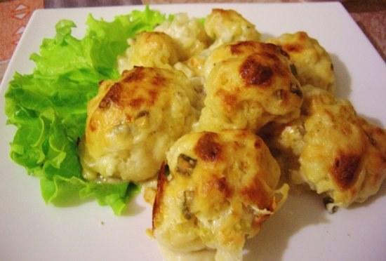 Cauliflower in cream
