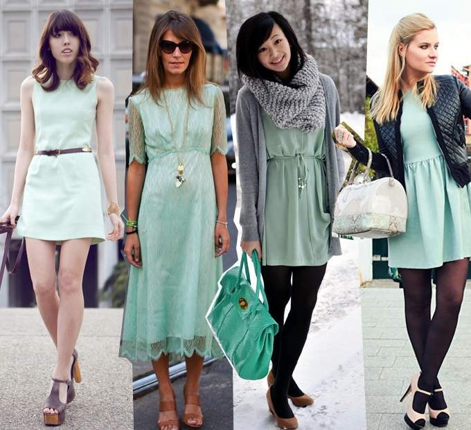 What to wear dress mint color