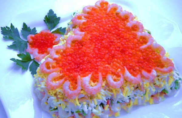 """Рецепт салата из морепродуктов """"С любовью"""""""