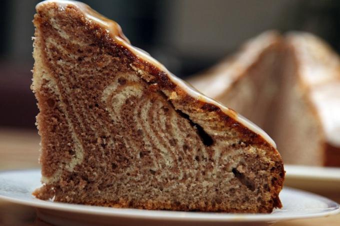 Как сделать пирог «Зебра»