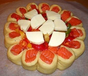 Рецепт пирога с семгой