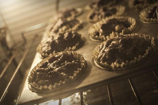 Как сделать кексы с черникой