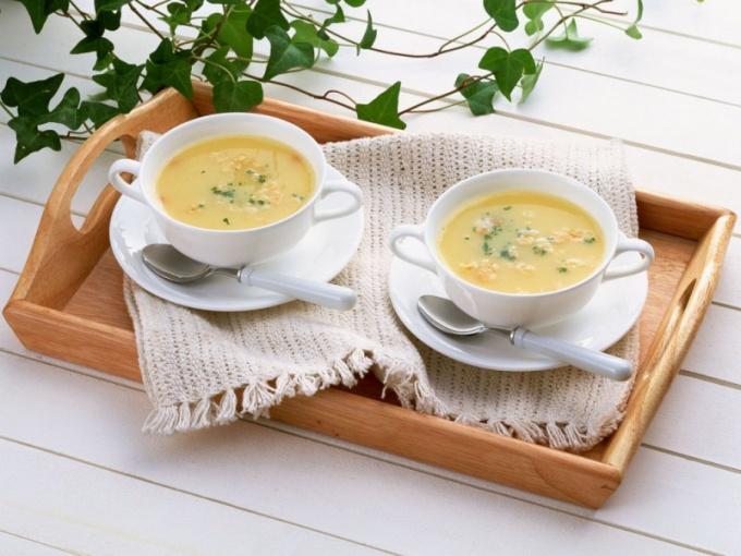 Вкусный сырный суп