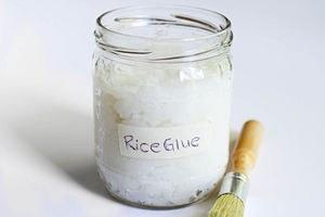 Как создать рисовый клей