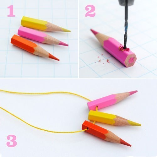 Как сделать подвеску из карандашей