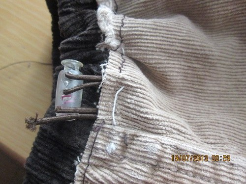 Маленькие брюки превращаем в большие