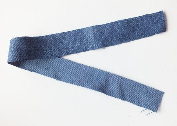Как сделать модный джинсовый браслет