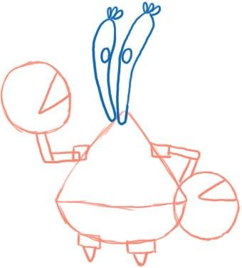 Как нарисовать мистера Крабса из Губки Боба