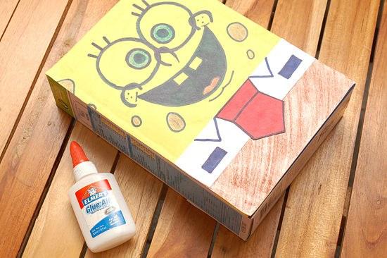 Как сделать Губку Боба из коробки под сухие завтраки