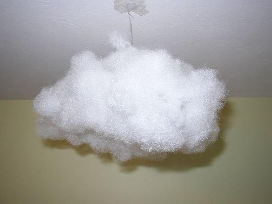 Как создать висячее облако под потолком дома
