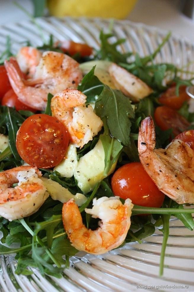 "Морской салат с помидорами ""Черри"""