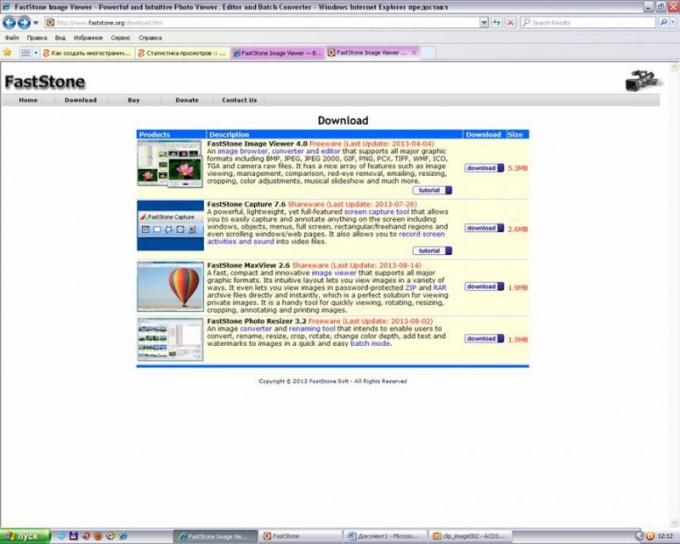 Official website screenshot software FastStone