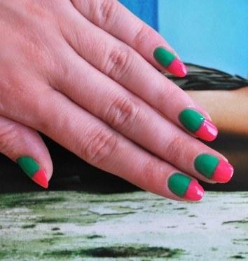 Как нарисовать арбуз в маникюре на ногтях