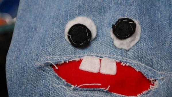Как сделать красивую вышивку на штанине для ребёнка