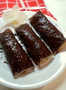 Вьетнамские блинчики с бананами и шоколадом