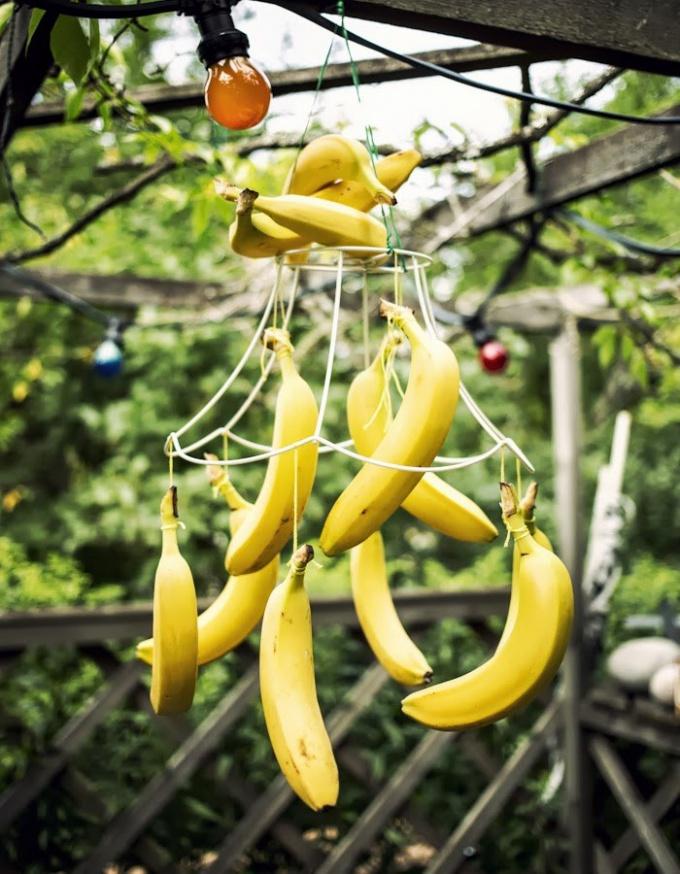 Как сделать гирлянду из бананов
