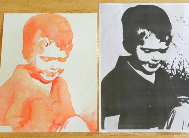 Как сделать необычный акварельный портрет