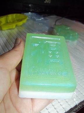 Двухслойное мыло из мыльной основы