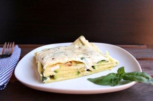 Как приготовить вегетарианскую сливочную лазанью с цукини
