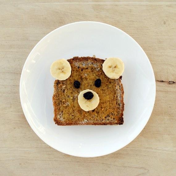 Как сделать тост в форме медвежонка