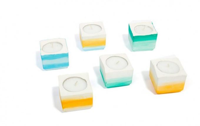 Как сделать красивые гипсовые свечи самой