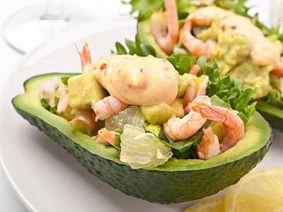 Рецепт авокадо с креветками