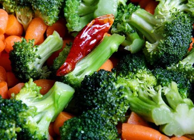 Как приготовить брокколи с овощами