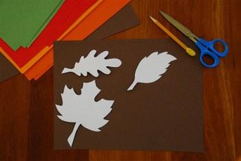 Как сделать гирлянду из бумажных листьев