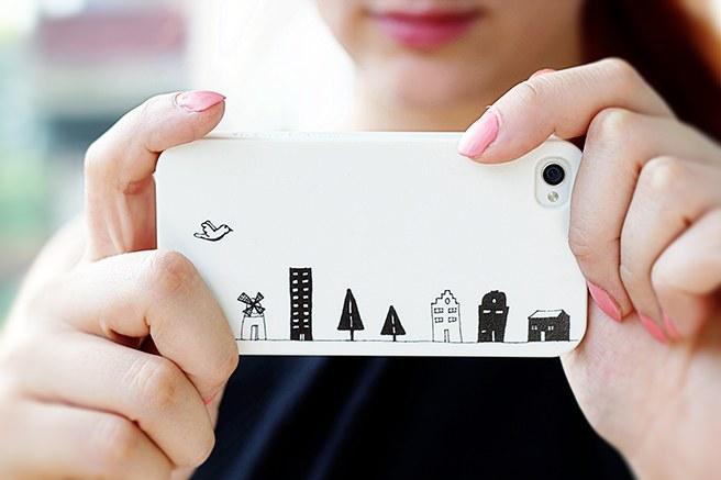 Как сделать самому красивую крышку для телефона