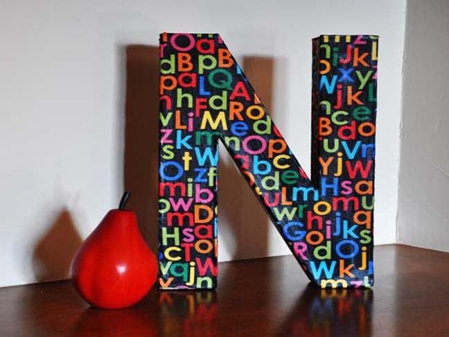 Как я сделал объемные буквы 56
