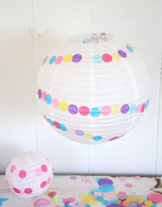 Как украсить китайские фонарики