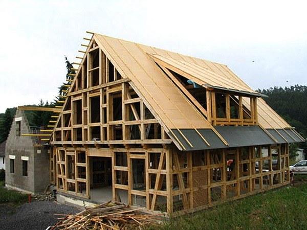 Строительство каркасного деревянного дома