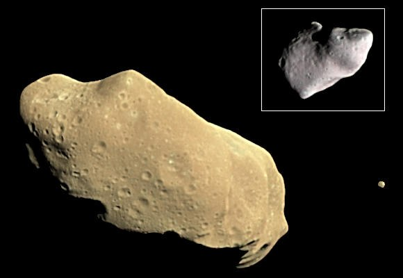 Астероид Ида со своим спутником Дактилем
