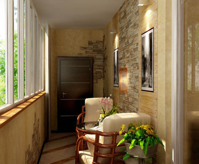 Домашний уют на балконе