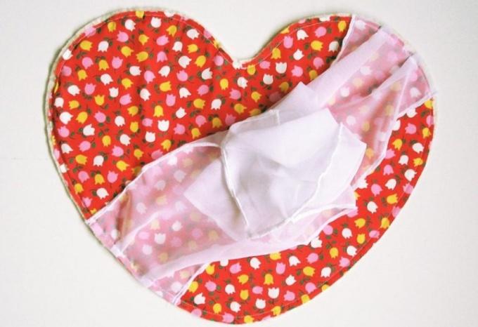 Как сшить подушку в форме сердца