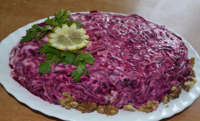 "The history of salad ""herring under a fur coat"""