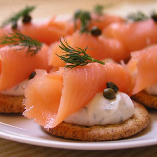 How to cook an appetizer on crackers