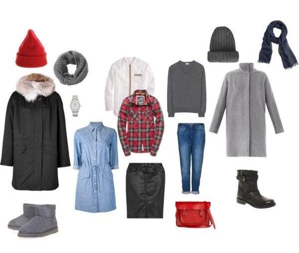 Пример гардеробной капсулы для молодой мамы с «зимним» типом внешности