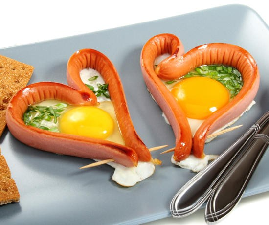 Как необычно подать яичницу на завтрак