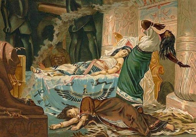 Как Клеопатра искала яд для самоубийства