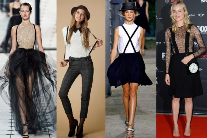 Модно ли носить брюки с подтяжками