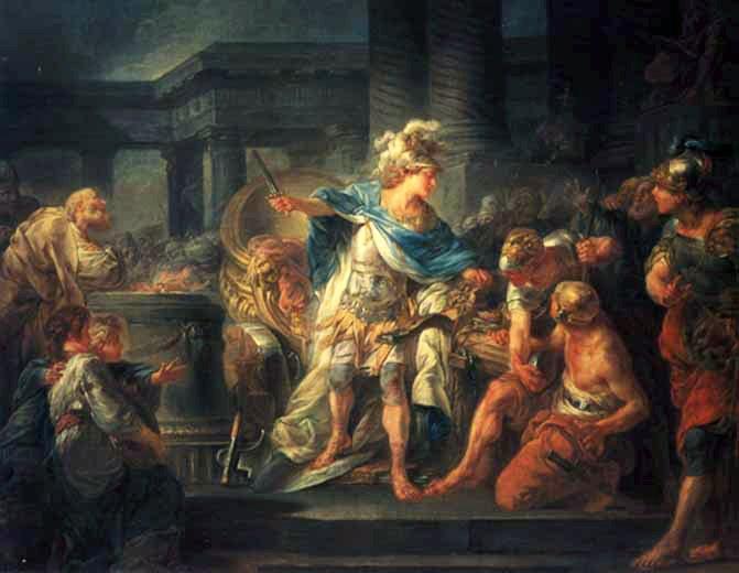 Александр Македонский разрубает гордиев узел